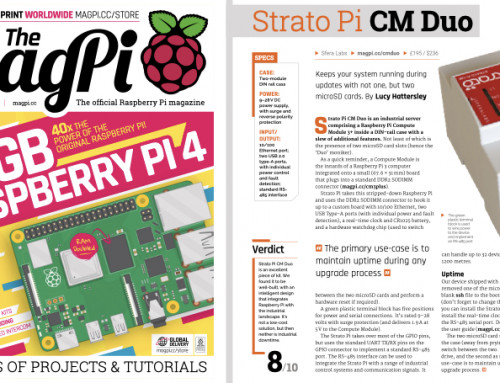 Strato Pi CM Duo review on The MagPi!
