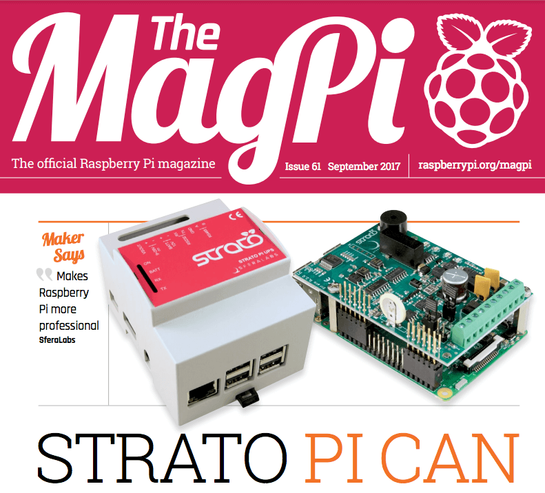 Strato Pi CAN on the MagPi