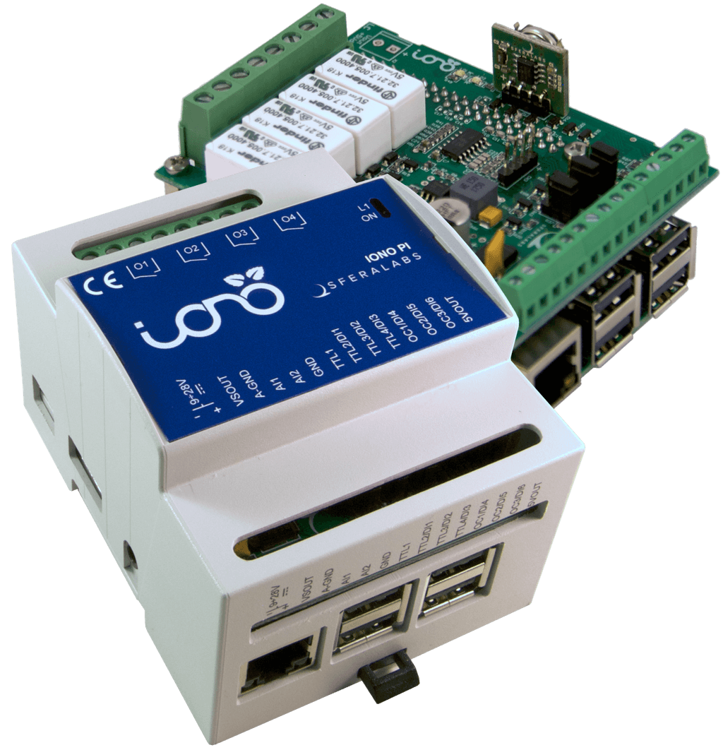 Iono Pi Raspberry Plc Relays Digital Analog I O 1 Wire Din 64 Bit Computer On Module Industrial