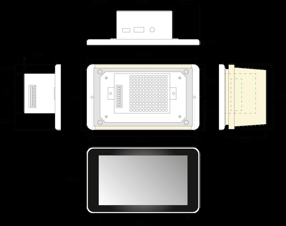 strato pi touch dimensions