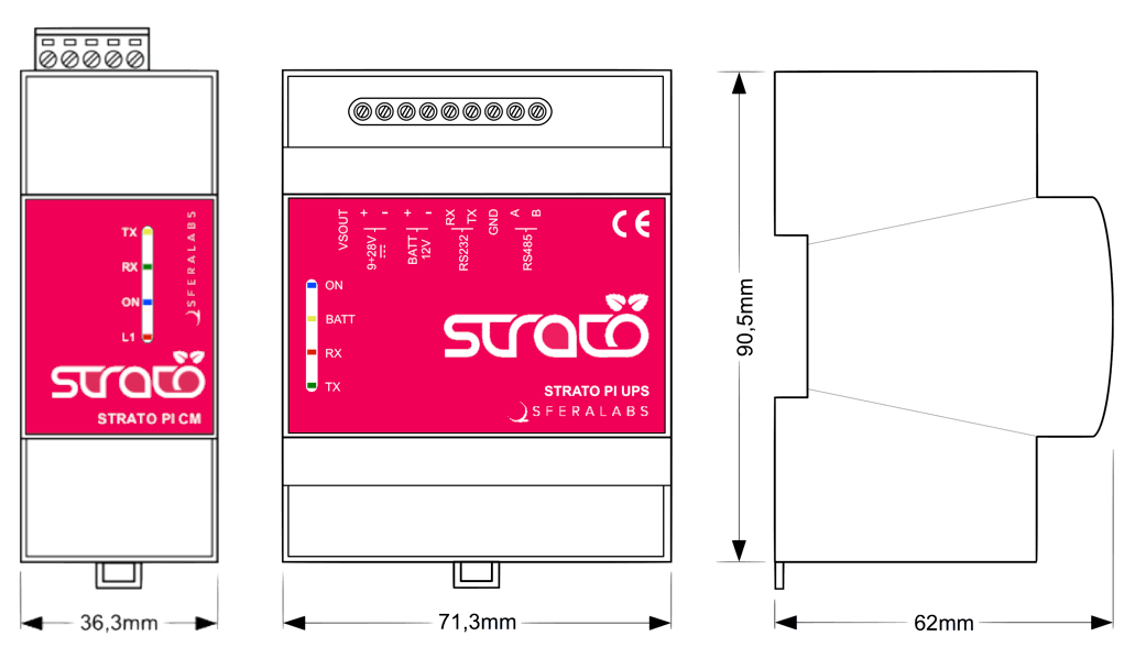 strato-pi-dimensions