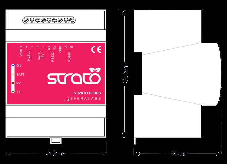 Strato Pi Server Dimensions